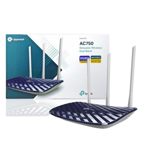 Roteador Wireless TP-Link AC750 Archer C20 Com 3 Antenas