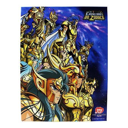 Quadro Metal 26cm x 20cm Cavaleiros de Ouro