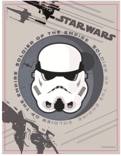 Quadro Metal 26cm x 20cm Star Wars