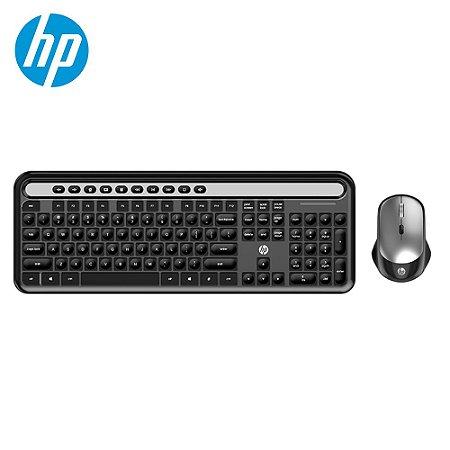 Teclado e Mouse HP USB S/ Fio  CS500 Preto