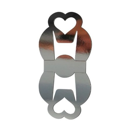 Caixinha de Caneca Tipo Bolsa Para Sublimação - Prata - Alça de Coração