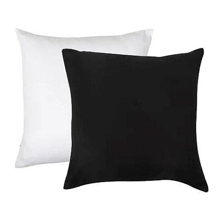 Almofada Para Sublimação 20x20 - Preta/Branca