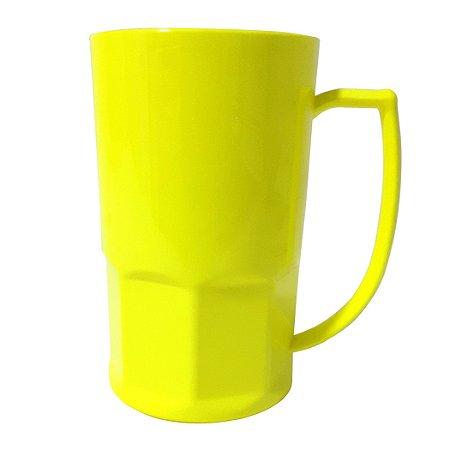 Caneca de Chopp em Polímero Para Sublimação - 500ml - Amarela Neon