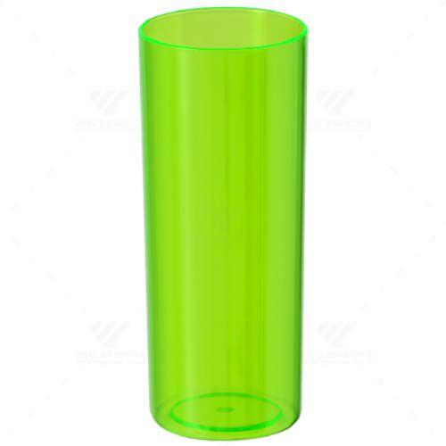 Copo Long Drink Verde Neon Translúcido