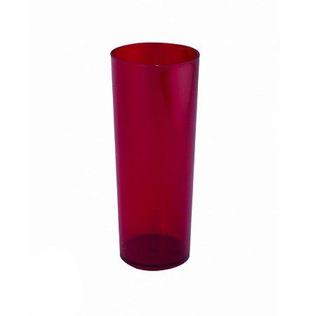 Copo Long Drink Vermelho Neon Translúcido