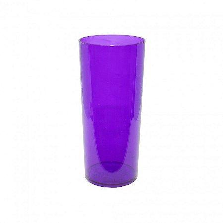 Copo Long Drink Lilás Neon Translúcido