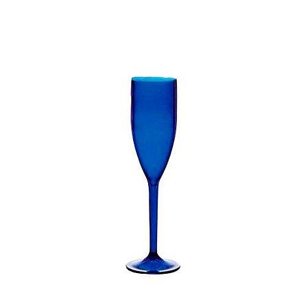 Taça Champanhe de Acrílico Azul Neon
