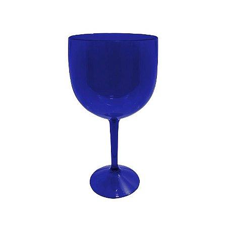 Taça de Gin Azul Neon de Acrílico Translúcido