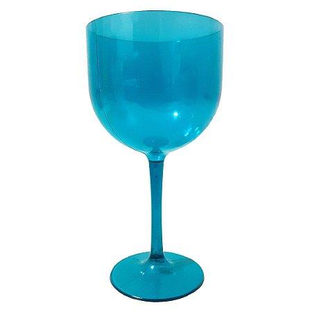 Taça de Gin Azul Tiffany Neon de Acrílico Translúcido