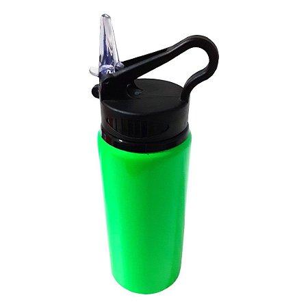 Squeeze de Metal Verde com Bico Retrátil Para Sublimação - 600ml