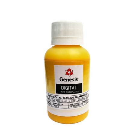 Tinta Sublimática Gênesis Amarela - 100ml
