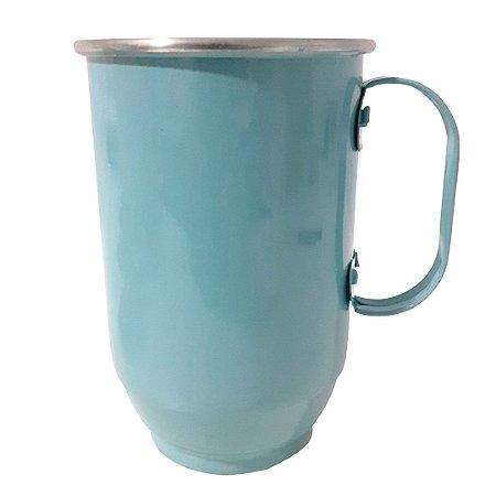 Caneca de Alumínio Para Transfer - 650ml - Azul Tiffany