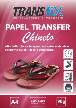 Papel Transfer Laser A4 Para Chinelo  - Transfix - 90g - 100 Folhas