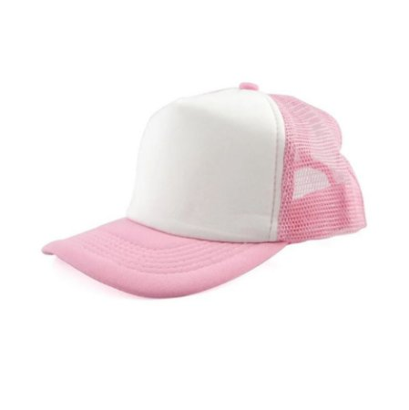 Boné de Tela com a Frente Branca Para Sublimação - Rosa