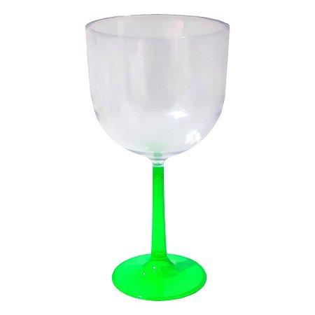 Taça de Gin Base Verde de Acrílico
