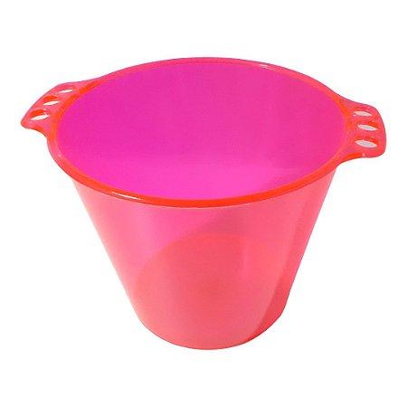 Balde de Gelo de Acrílico Rosa Neon Translúcido - 5L