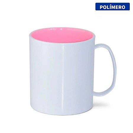Caneca de Polímero com Interior Rosa Bebê