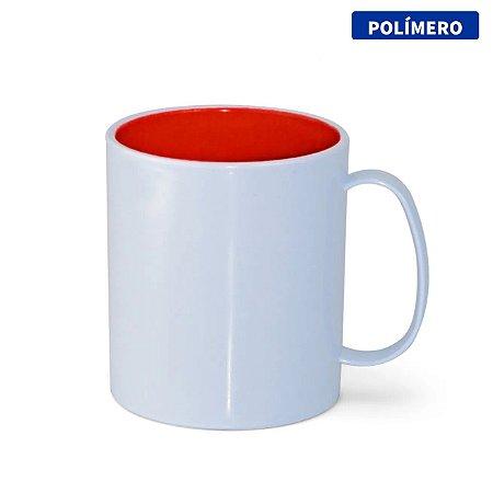 Caneca de Polímero com Interior Vermelho