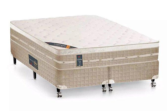 Colchão Castor de Molas Bonnel Premium Tecnopedic Euro Pillow King - 1,93x2,03x0,30