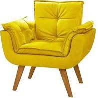 Poltrona Decorativa Topalla 01 lg Cor: Amarelo