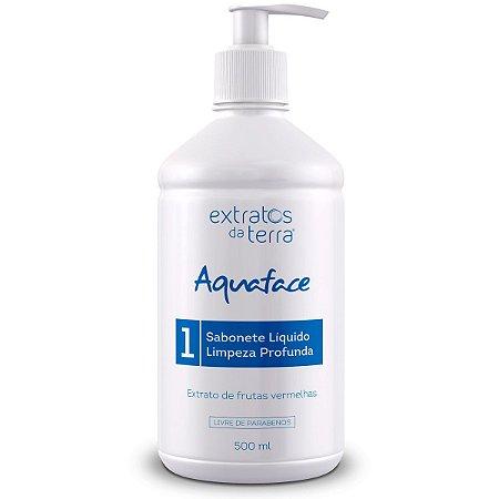 Sabonete Líquido Aquaface Limpeza Profunda Todo Tipo de Pele 500ML - Extratos da Terra
