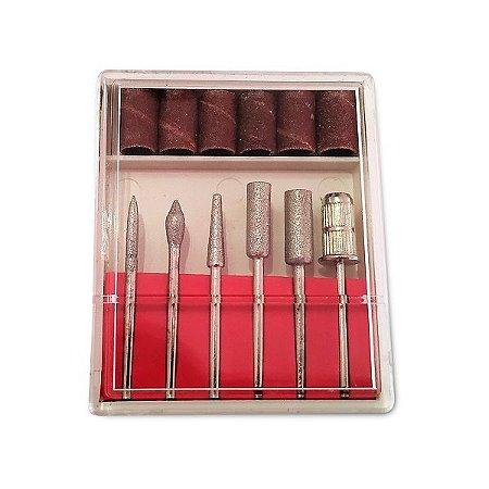 Kit de Brocas e Lixas para Micromotores