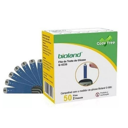 Fita para Glicosimetro 50 unidades - Bioland