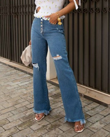 calça wide leg tamara