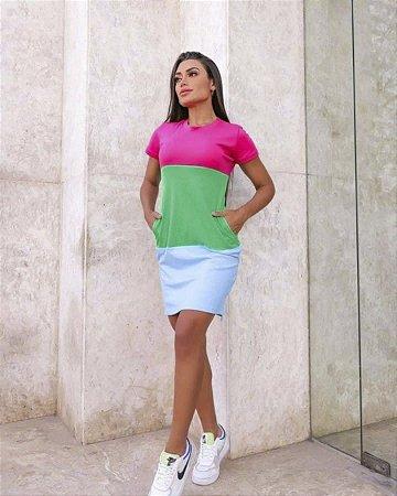 Vestido colors bolso lateral
