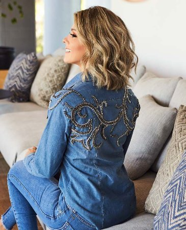 camisa jeans bordada domitilia villon