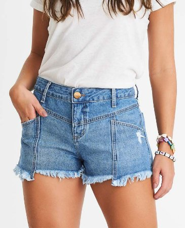 short jeans curto detalhes olinda villon jeans