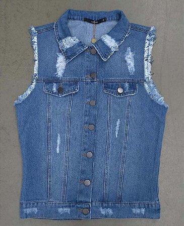colete jeans basico dalina villon