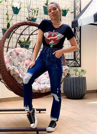 Calça jeans clochard mom juliana