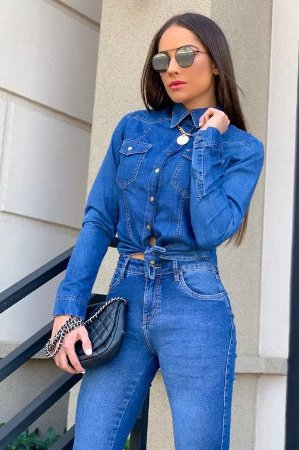 Camisa jeans tauany