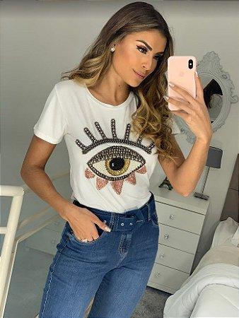 t-shirt olho grego dirce