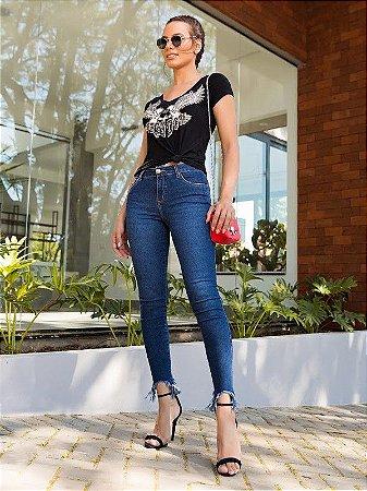 Calça cropped idamara villon jeans