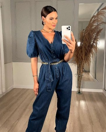 Macacão Ione jeans leve