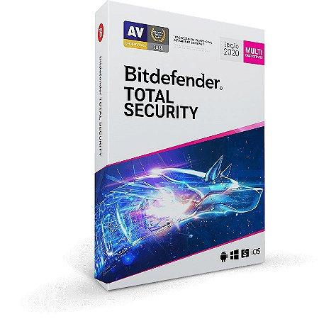 Bitdefender Total Security 2020 Até 10 Dispositivos 1 Ano
