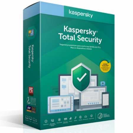 Kaspersky Total Security 2020 - 10 Dispositivos - 01 Ano