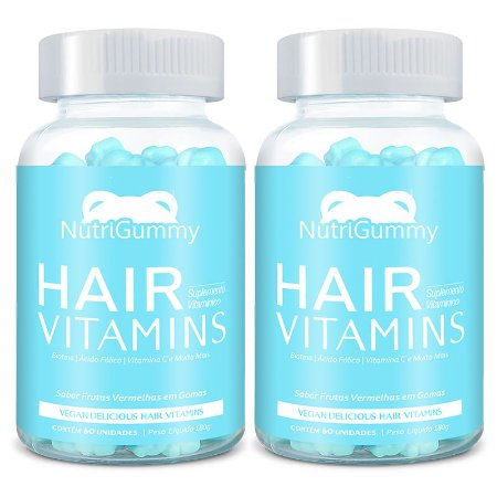 Vitaminas 2 meses de Tratamento - Nutrigummy Hair Vitamins 120 Gomas