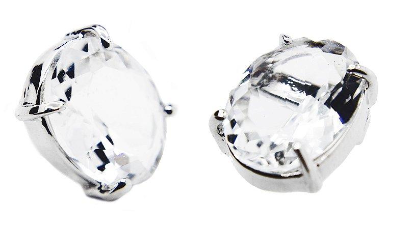 Brinco pedra cristal