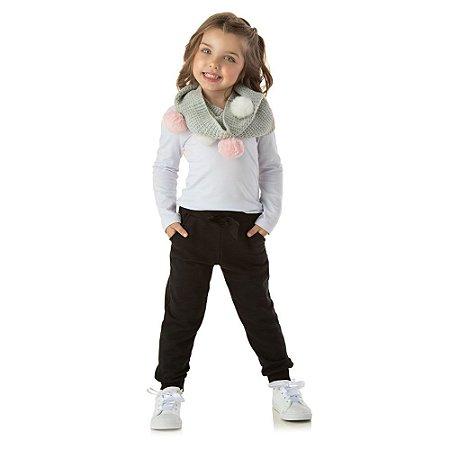 Calça moletom feminino infantil
