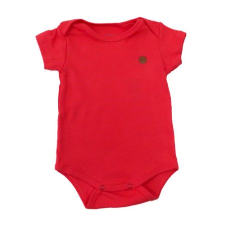 Body Bebê Suedine Liso Manga Curta