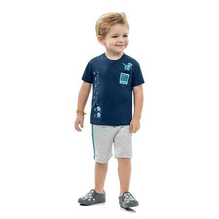 Camiseta dinossauro meia malha
