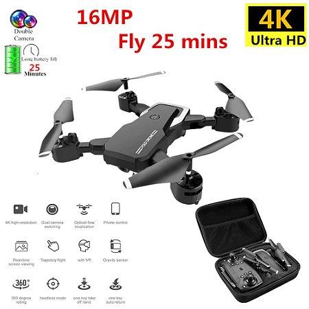 Drone profissional 4k com câmera dual hd wifi