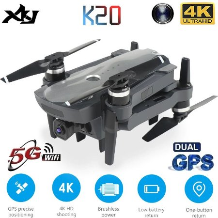 Drone K20 Profissional Gps 4K Motor Brushless 1.800 metros