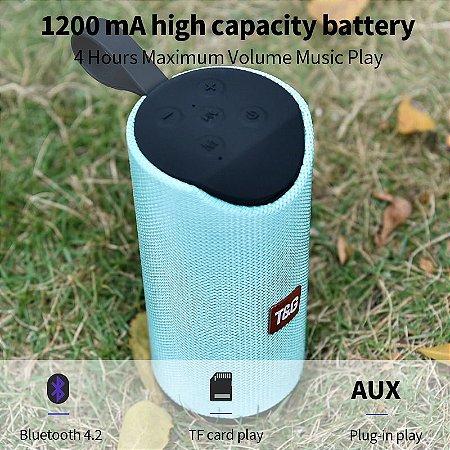 Caixa de som alto-falante bluetooth portátil sem fio 10w estério surround suporte fm tfcard