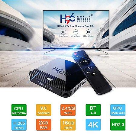 H96 mini h8 android 9.0 smart tv box 4K