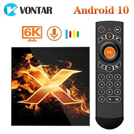 2020 vontar x1 smart tv box android 10 4g 32gb 4k 2.4g & 5g wifi bt5.0