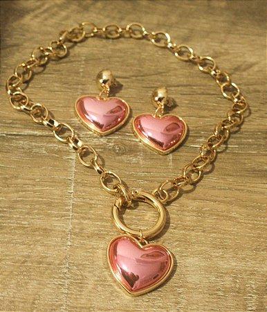 Conjunto In Love Coração Rosa